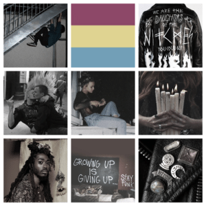 Growing Up, Lgbt, and Tumblr: WE ARE +HE  GROWING UP  GIVING UP.. lgbt-aesthetics:  Pansexual + Punk  Grunge  Witch Aesthetic ~Requested By @paganstorm91~
