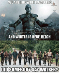 Like Best of The Walking Dead for more!: WE ARE THE WHITE WALKERS  pages The Red  AND WINTER IS HERE, BITCH  DIDO SOMEBODY SAY WALKERP Like Best of The Walking Dead for more!