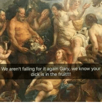 Memes, Dick, and 🤖: We aren't falling for it again Gary, we know your  dick is in the fruit!!! F*cking Gary at it again