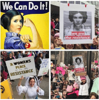 @hamillhimself posted this showing his support for carrie and the women's march feminist thing today. Miss carrie ❤❤❤: We Can Do Do  WOMANS  A PLACE  RESISTANCE  A we are  the resistance  we are the @hamillhimself posted this showing his support for carrie and the women's march feminist thing today. Miss carrie ❤❤❤