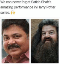 Dekh Bhai, International, and Harry Potter (Series): We can never forget Satish Shah's  amazing performance in Harry Potter  Series Couldn't stop laughing 😂😂 Follow @sarcastic.chor for more 👌🏻