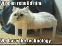 Technology Meme: We can rebuild him.  We have the technology.