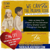 Cleveland! We need your help! Drop off your warm unused clothes at @thefix_bistro ! Tag everyone you know this! The community needs you! community blackowned cleveland therealblackfriday: WE CAN  WZAKCIeve  MipHopCleveland  THE PAJAMA ISSUE  Help us keep the  children at The Salvation  Army Shelter warm  throughout the night  DROP OFF LOCATION:  15% YOUR PAJAMA  MEAL CARD  YOUR OR GIFT THE  BISTRO  2195 LEE ROAD CLEVELAND HTS  DONATION  PURCHASE PAJAMAS FROM OUR REGISTRY AT  THEREALBLACKFRIDAYCOM Cleveland! We need your help! Drop off your warm unused clothes at @thefix_bistro ! Tag everyone you know this! The community needs you! community blackowned cleveland therealblackfriday