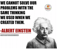 Power Of Thinking.. (Y): WE CANNOT SOIVE OUR  PROBLEMS WITH THE  SAME THINKING  WE USED WHEN WE  CREATED THEM  ALBERT EINSTEIN  laughing colours.com Power Of Thinking.. (Y)