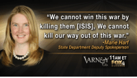 "Isis, Tumblr, and Blog: ""We cannot win this war by  killing them [ISIS], We cannot  kill our way out of this war.""  -Marie Harf  State Department Deputy Spokeperson  11AM ET  FOX  BUSINESS <p><a href=""http://gop-tea-pub.tumblr.com/post/111278650172/this-is-what-stupid-looks-like-take-a-look-at"" class=""tumblr_blog"">gop-tea-pub</a>:</p>  <blockquote><p>THIS is what stupid looks like.<br/>Take a look at what Marie Harf, spokeswoman for the State Department said.  She then suggested we focus on the ""root of the problem"" their poor  economy… and help them get jobs.<br/></p></blockquote>  <p>Help. Them. Get. Jobs?</p>"
