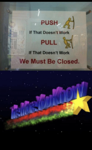 We closed: We closed