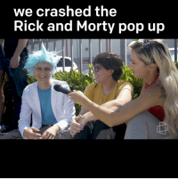 we crashed the  Rick and Morty pop up RT @Fullscreen: Morty *buurrp* get in Morty, we're crashing the pop up. https://t.co/KOlkFaOmiK
