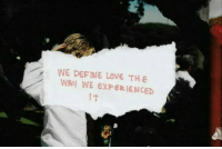 Love, Define, and Experienced: WE DEFINE LOVE THE  WAY WE EXPERIENCED  IT