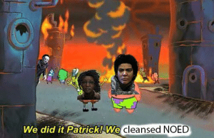 When survivors decide to cleanse the totems before the gens: We did it Patrick! We  cleansed NOED When survivors decide to cleanse the totems before the gens