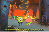 Charlotte right now: We did it Patrick! We saved the city Charlotte right now