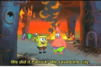 Rioters in Baltimore be like: We did it Patrick! We saved the city.  Memes COM Rioters in Baltimore be like