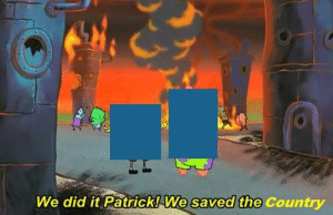 Dank Memes, Did, and Saved: We did it Patrick! We saved the Country #BlueForSudan