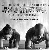 Gym, Old, and Grow: WE DO NOT STOP EXERCISING  BECAUSE WE GROW OLD -  WE GROW OLD BECAUSE WE  STOP EXERCISING  DR. KENNETH COOPER We still grow old offcourse but you get the point 🙌👏 . @livingfittips . weightloss weightlossjourney gymmotivation gymlife foodtip howto