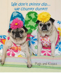 One of Mom's favorite cards of these precious girls <3 <3 <3 Happy summer Sunday everyone!!! <3 <3 <3 https://www.etsy.com/listing/478257461/funny-friendship-cards-skinny-dip?ref=shop_home_active_19: We don't skinny dip...  we chunky dunk!!!  Pugs and Kisses One of Mom's favorite cards of these precious girls <3 <3 <3 Happy summer Sunday everyone!!! <3 <3 <3 https://www.etsy.com/listing/478257461/funny-friendship-cards-skinny-dip?ref=shop_home_active_19