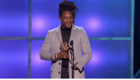 """Memes, 🤖, and Unforgettable: """"We don't worry about negativity because we're too positive.""""   @Shaquemgriffin scrapped his written speech and delivered an unforgettable message at #NFLHonors. https://t.co/u31tz8m8Ja"""