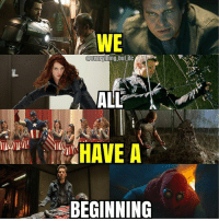 Started from the bottom, now we're almost there! nerd geek ironman captainamerica spiderman guardiansofthegalaxy deadpool xmen starwars anime batman superman justiceleague comics marvel disney mcu blackpanther captainmarvel hulk thor dc infinitywar thanos: WE  @everyhing but dc  HAVE A  BEGINNING Started from the bottom, now we're almost there! nerd geek ironman captainamerica spiderman guardiansofthegalaxy deadpool xmen starwars anime batman superman justiceleague comics marvel disney mcu blackpanther captainmarvel hulk thor dc infinitywar thanos