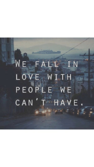 Fall, Can, and Have: WE FALL IN  DET  PEOPLEWE  CAN T HAVE.