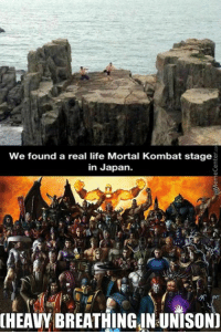 Round 1: FIGHT!: We found a real life Mortal Kombat stage  in Japan.  HEAVYBREATHING IN UNISON] Round 1: FIGHT!