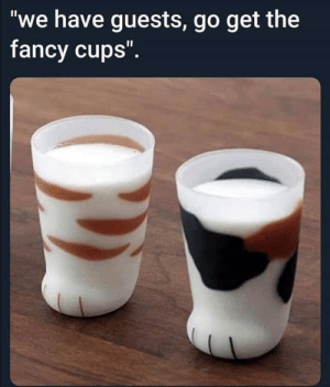 "My peasant ass isn't worthy: ""we have guests, go get the  fancy cups"". My peasant ass isn't worthy"