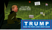 WE HAVE  THE BEST  HALARI  WORDS  for  PRISON 201E  STICK WITH ME  AND YOU'LL NEVER  GO HUNGRY AGAIN!  I'M READY  TO WORK  WALL  the silenl may orin  STANDS WITH  TRUMP  TRU EM P  MAKE THE PRIDE LANDS GREAT AGAIN TRUMP The Lion King - Be Prepared