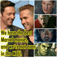 Memes, 🤖, and Mcu: We have the best  Marvel movies  and were not  even  in the MCU From @562comics - Are Logan and Deadpool your favorite Marvel films? . . . logan deadpool hughjackman ryanreynolds marvel mcu marvelcomics marvelstudios comicbookmemes comicbookmovies marvelmovies captainamerica chrisevans thor chrishemsworth ironman robertdowneyjr hulk markruffalo disney fancast fanboysgettriggered avengers