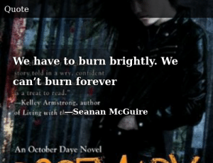 SIZZLE: We have to burn brightly. We can't burn forever