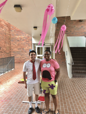 We hosted a Spongebob themed bbq yesterday at work, and had to snap a pic of the two best buds before it was over 🙂: We hosted a Spongebob themed bbq yesterday at work, and had to snap a pic of the two best buds before it was over 🙂