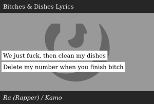 Ra (Rapper)-Ra Material -Bitches & Dishes