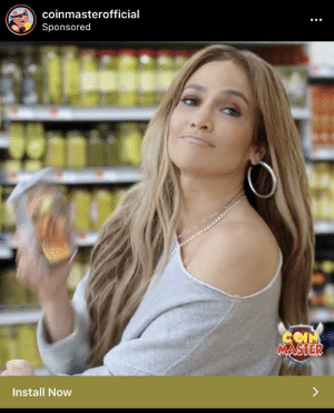 """We know we are safe from coronavirus because Jennifer Lopez advertises Coin Masters on our news feeds. Thank you to our """"celebs."""": We know we are safe from coronavirus because Jennifer Lopez advertises Coin Masters on our news feeds. Thank you to our """"celebs."""""""
