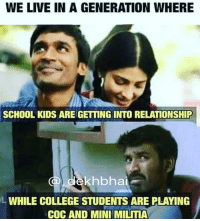 Sab ulta pulta 😂😂 Adults playing PlayStation OnlineGaming Meanwhile kids 12 yrs old are dating 😷😅😂 KyaZamanaaAaGayaHai 😝 Bollywood tollywood meme . ➡️ @ommy_007: WE LIVE IN A GENERATION WHERE  SCHOOL KIDS ARE GETING INTO RELATIONSHIP  a ekhbhai  WHILE COLLEGE STUDENTS ARE PLAYING  COC AND MINI MILITIA Sab ulta pulta 😂😂 Adults playing PlayStation OnlineGaming Meanwhile kids 12 yrs old are dating 😷😅😂 KyaZamanaaAaGayaHai 😝 Bollywood tollywood meme . ➡️ @ommy_007