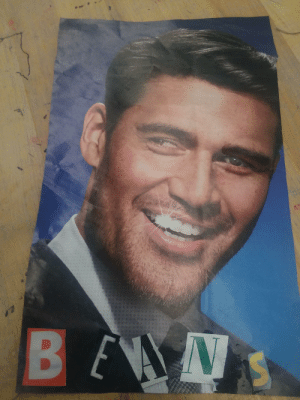 We made collages in art today, and I got top marks for this beauty.: We made collages in art today, and I got top marks for this beauty.