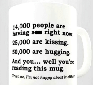 we must get more people to read the mug: we must get more people to read the mug