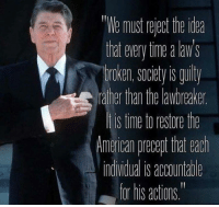 """Memes, American, and Time: """"We must riest th da  hat wery ine alaw's  roken,society s guity  ather than the lawbreake  s time to restore the  American precert that each  indvdual is accountade  for his actions."""