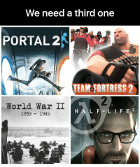 team fortress: We need a third one  PORTAL2  TEAM FORTRESS 2  World War II  1939 1945