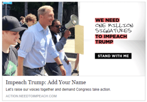 Tumblr, Blog, and Http: WE NEED  STGWATURES  TO IMPEACH  TRUMP  STAND WITH ME  Impeach Trump: Add Your Name  Let's raise our voices together and demand Congress take action.  ACTION.NEEDTOIMPEACH.COM memehumor:  I don't think that's how impeachment works…