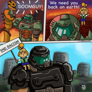 We need you on earth Doomguy!: We need you on earth Doomguy!