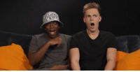 We played a funny game of Him or Me with KSIOlajideBT and Caspar Lee to celebrate the release of Laid in America.: We played a funny game of Him or Me with KSIOlajideBT and Caspar Lee to celebrate the release of Laid in America.