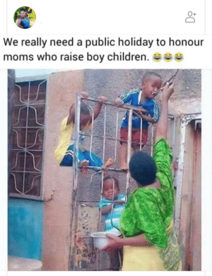 holiday: We really need a public holiday to honour  moms who raise boy children. se