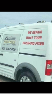 Gif, Tumblr, and Media: WE REPAIR  WHAT YOUR  mHUSBAND FIXED  AtaplionceW  Repair Teda  oles Service Repair  407-670-5000 Reparamos lo que tu marido arregló