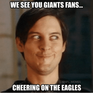 eagles giants: WE SEE YOU GIANTS FANS...  @NFL MEMES  CHEERING ON THE EAGLES