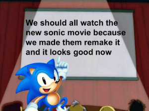 Invest in this then invest in the sonic movie! via /r/MemeEconomy https://ift.tt/2OdtyJw: We should all watch the  new sonic movie because  we made them remake it  and it looks good now Invest in this then invest in the sonic movie! via /r/MemeEconomy https://ift.tt/2OdtyJw