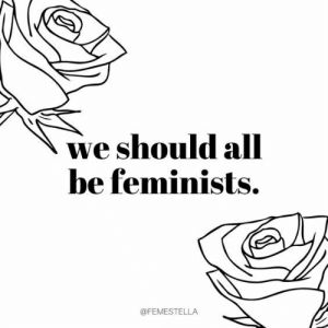 Feminists: we should alll  be feminists.  @FEMESTELLA