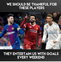 Incredible players! ⚽️👏: WE SHOULD BE THANKFUL FOR  THESE PLAYERS  REAM  Standard  Chartered&  Ely  mirares  akuten  THEY ENTERTAIN US WITH GOALS  EVERY WEEKEND Incredible players! ⚽️👏