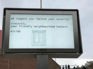 Honest Hackers Be Like: we suggest you improve your security  sincerely,  your friendly neighbourhood hackers  #1 FT96  ELONEX Honest Hackers Be Like