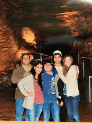 We took this photo in the caves of Branson, MO over 2 years ago. We never noticed our unexpected guest untill now!: We took this photo in the caves of Branson, MO over 2 years ago. We never noticed our unexpected guest untill now!