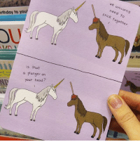 Repost @haleyhammerhand (@get_repost) ・・・ All these @lizclimo cards at @Target just made my day!! I usually don't really care about greeting cards but I think I want to collect every single one of these.: we unicorns  need to  stick together  rthday to you  OU  is that  a plunger on  your head? Repost @haleyhammerhand (@get_repost) ・・・ All these @lizclimo cards at @Target just made my day!! I usually don't really care about greeting cards but I think I want to collect every single one of these.