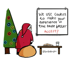 Accept cookies?: We use Cookies  to make  your  experience 'in  this house better  ACCEPT?  @twisteddoodles Accept cookies?