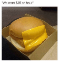 "Memes, 🤖, and  Hours: ""We want $15 an hour"" (GC)"
