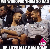 "Facebook, Ghetto, and Memes: WE WHOOPED THEM SO BAL  ghetto  redhot  HE LITERALLY RAN HOME <p><strong>Lebron ran home</strong></p><p><a href=""http://www.ghettoredhot.com/nba-memes-on-facebook/"">http://www.ghettoredhot.com/nba-memes-on-facebook/</a></p>"
