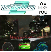 Memes, Time, and Audio: WE  YOU  SOURCE: C  COM  st /4  Laps  1 /3  Reiji  Time:  132 Need for Speed: Underground 2's entire soundtrack was perfect. 🔊 AUDIO ON 🔊